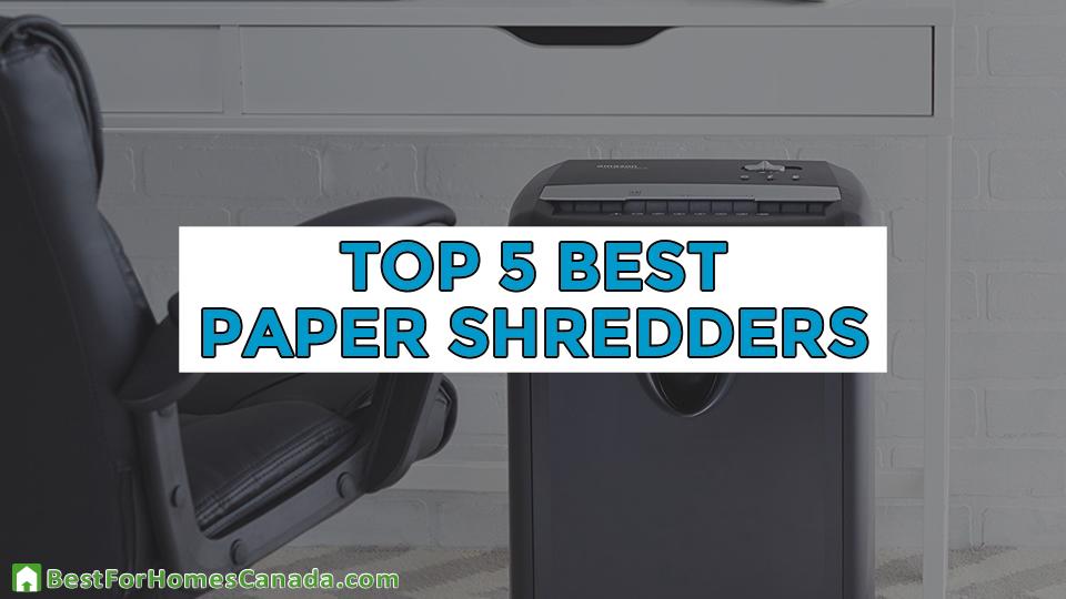 Top 5 Best Paper Shredders